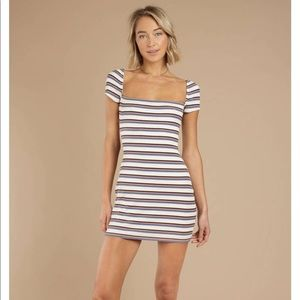 NWT Tobi Dance to This white Multi Ribbed Dress